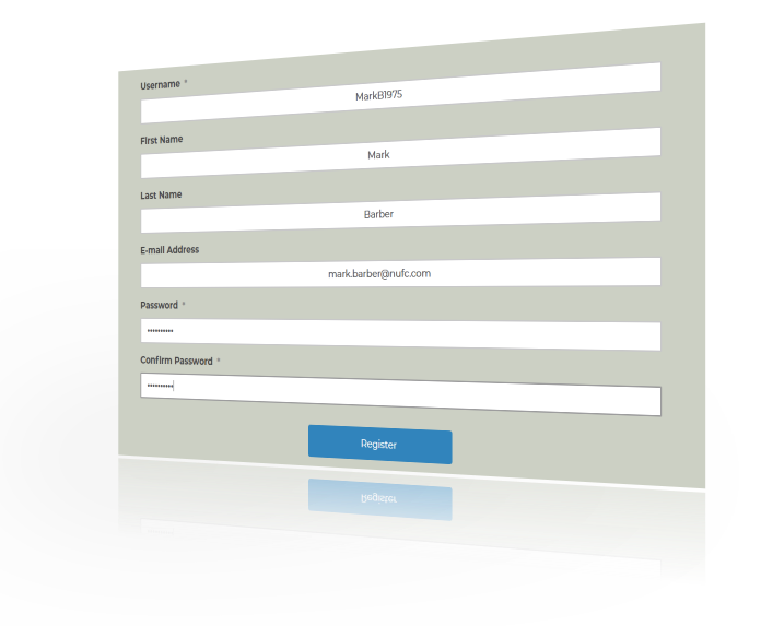 Complete all text boxes on the form